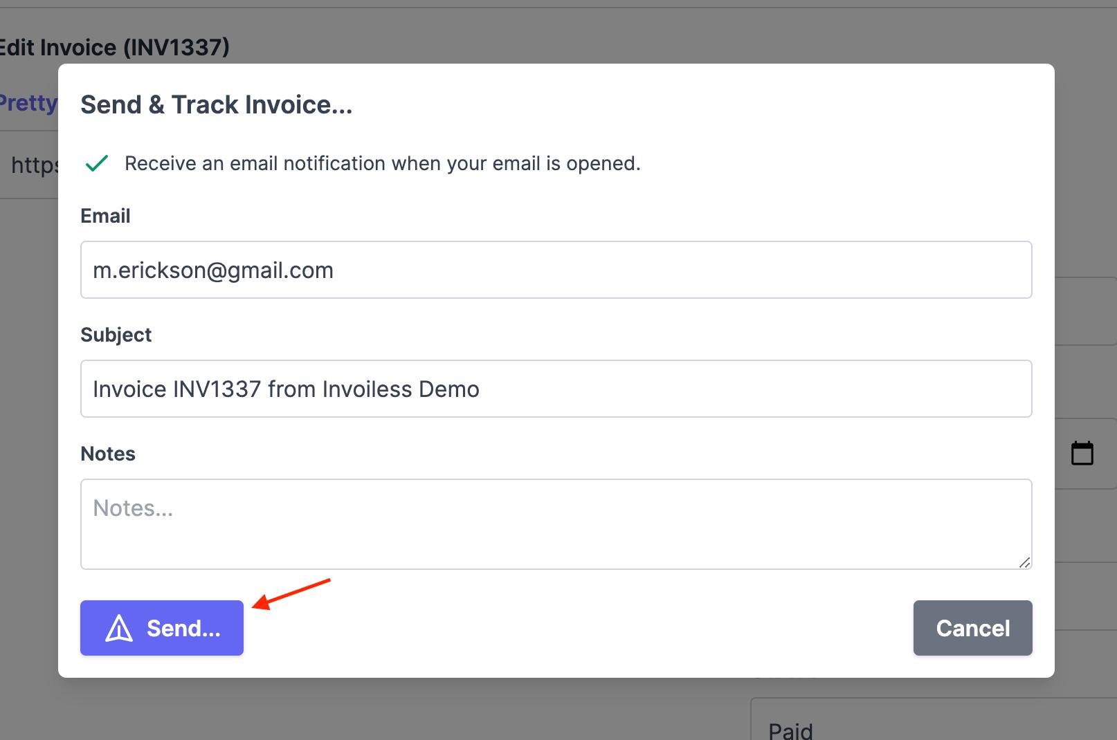 Send invoice 3